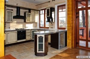 Пример дизайна барной стойки для кухни
