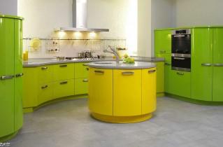Грамотное оформление кухни зеленого цвета: фото, дизайн