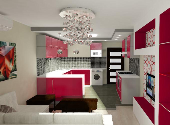 Дизайн проект кухни 18 кв м