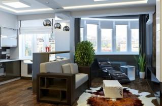 Как может быть оформлена кухня-студия 20 кв. м — дизайн , фото и полезные советы