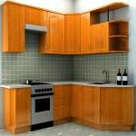 Дизайн малогабаритной угловой кухни