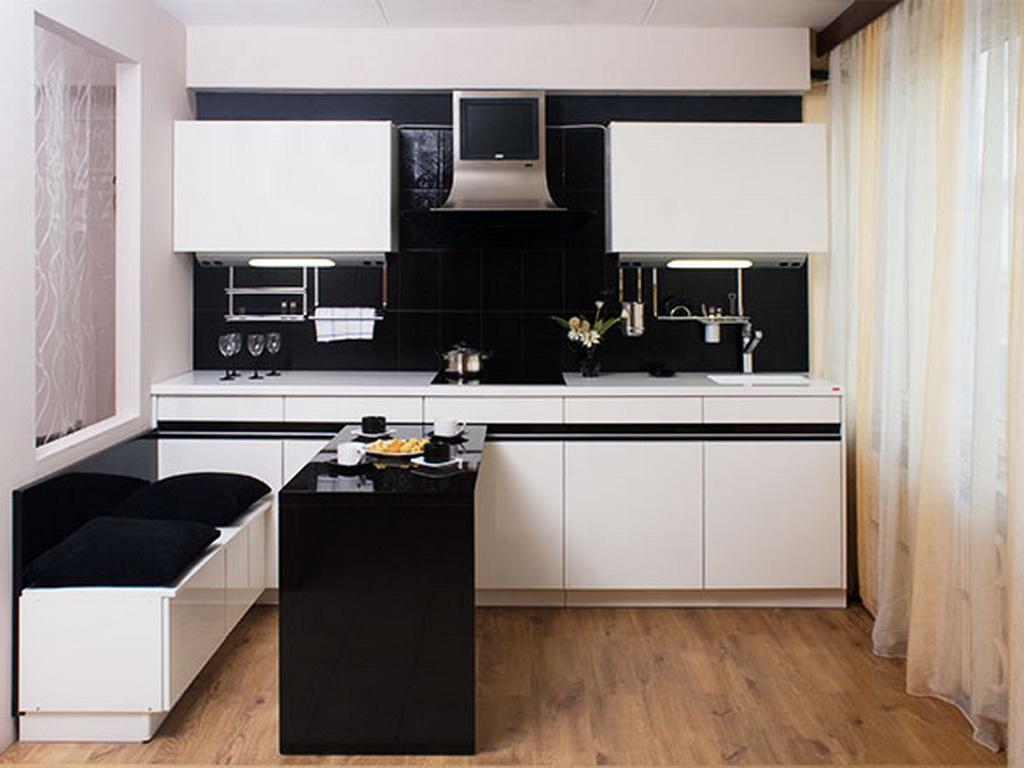 черно белая кухня дизайн фотоподборки