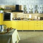 Интерьер желтой кухни, дизайнерские решения