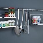 Рейлинги для кухни, примеры установки