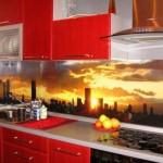 Кухни со стеклянным фартуком