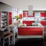 Дизайн кухни красных тонов оттенков