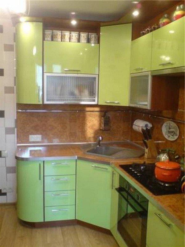угловые кухни фото для малогабаритных квартир