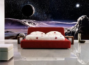 Пример дизайна комнаты с фотообоями