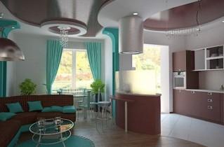 Как может выглядеть кухня-студия на фото – дизайн помещений с разными характеристиками