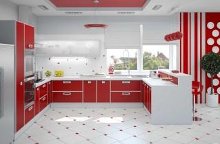 Красная кухня фото дизайн. Как сделать все грамотно?
