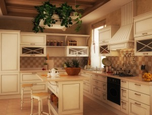 Стиль кантри в кухонном интерьере