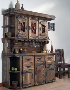 Мебель при оформлении в стиле Шале