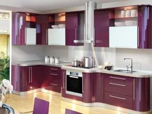 Стиль модерн в кухонном интерьере