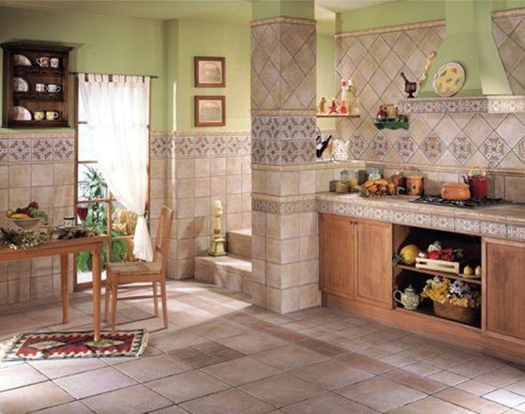Кухня выложенная плиткой фото