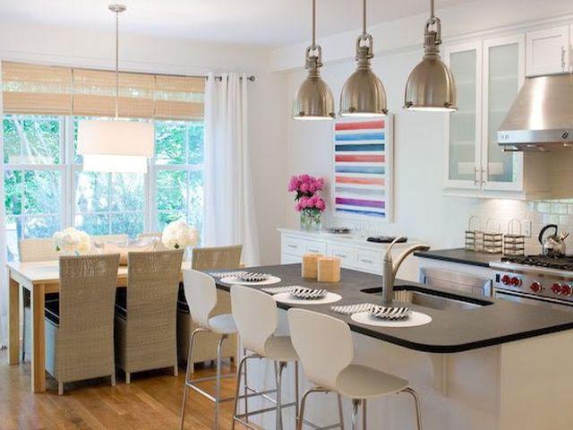 Люстры дизайн кухни