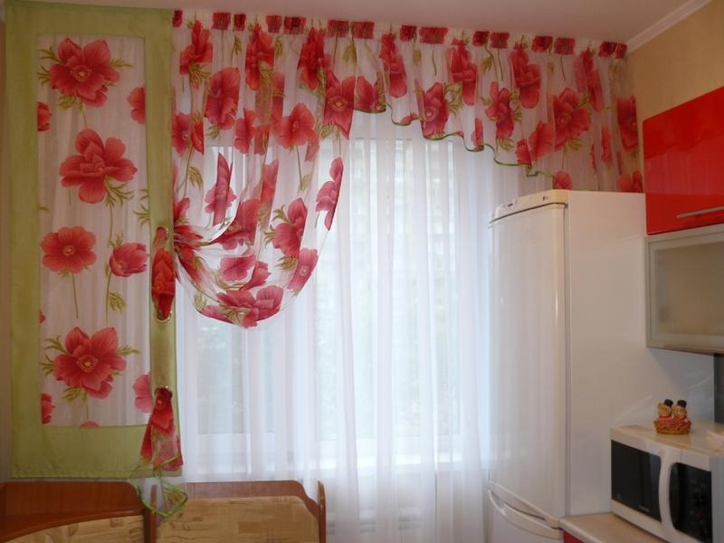 Образцы штор для кухни своими руками