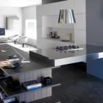 Идея дизайна кухни с гостиной