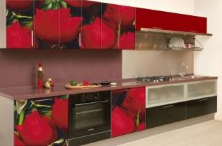 Кухни с фотопечатью на фасадах: фото, варианты исполнения и характеристики