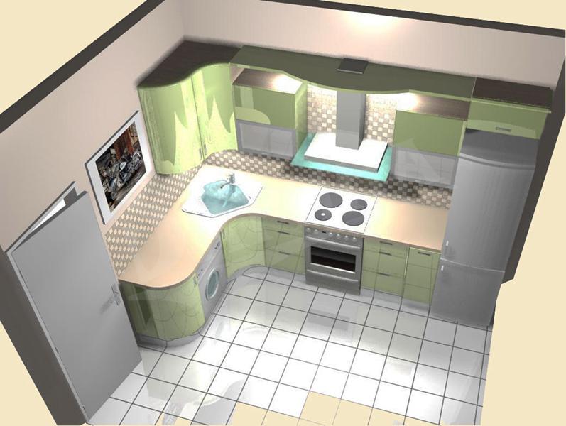 проекты кухонь 18 кв.м фото