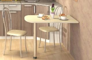 Стол кухонный пристенный, как незаменимый атрибут небольшой кухни