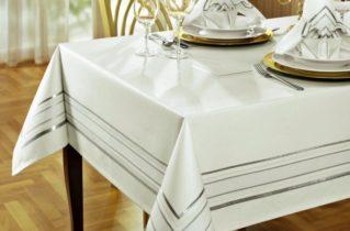 Скатерть на кухонный стол, фото оформления