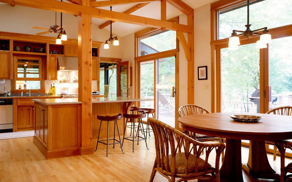 Дизайн кухни и столовой в своем доме