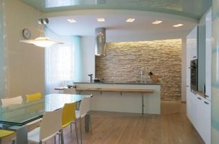 Потолки из гипсокартона для кухни: фотообзоры