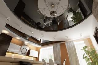 Натяжные потолки для кухни: фото наиболее предпочтительных примеров оформления
