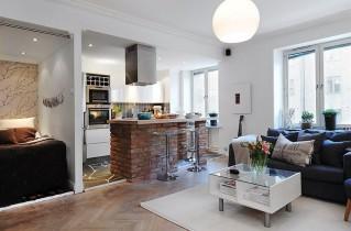 Современная кухня-студия: дизайн с фото, особенности зонирования и выбора декора