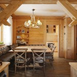 Оформление кухни в деревянном доме