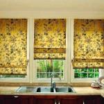 Современные шторы для кухни 2015 года