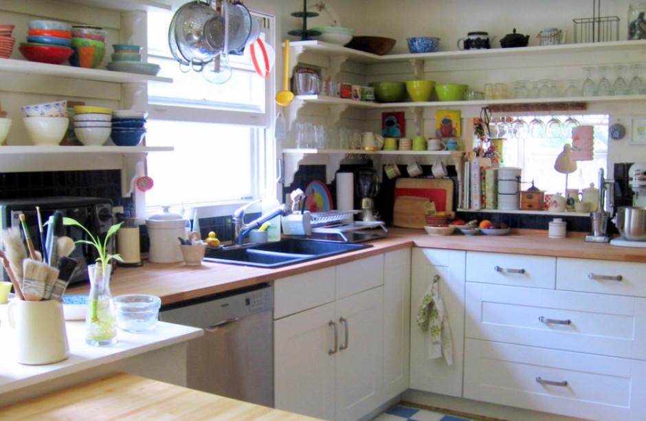 Полка на кухню дизайн