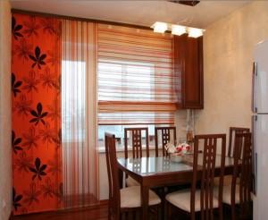Выбор кухонных штор