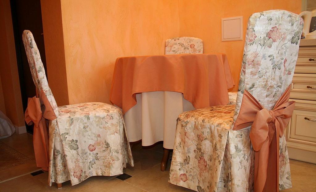 Чехлы на стулья своими руками: фото, выкройки, как. - Pinterest 72