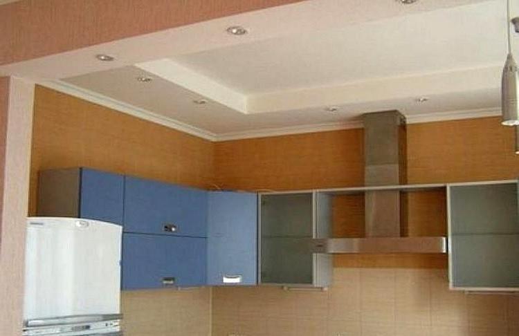 Потолок на кухне из гипсокартона дизайн