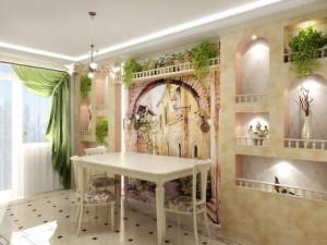 Особенности фресок на кухне