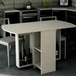 Кухонные раскладные столы различных форм