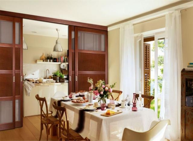 перегородки раздвижные между кухней и гостиной фото
