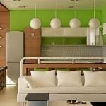 Дизайн современной кухни-студии