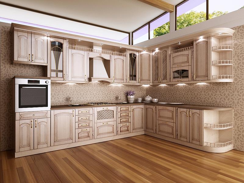 Дизайн классической кухни светлой