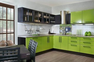 Зеленая кухня в интерьере: фотоотчет