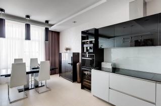 Черно-белая кухня: возможные варианты оформления