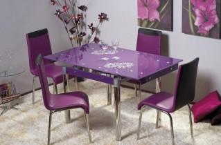 Стеклянные столы для кухни – конструкции и формы