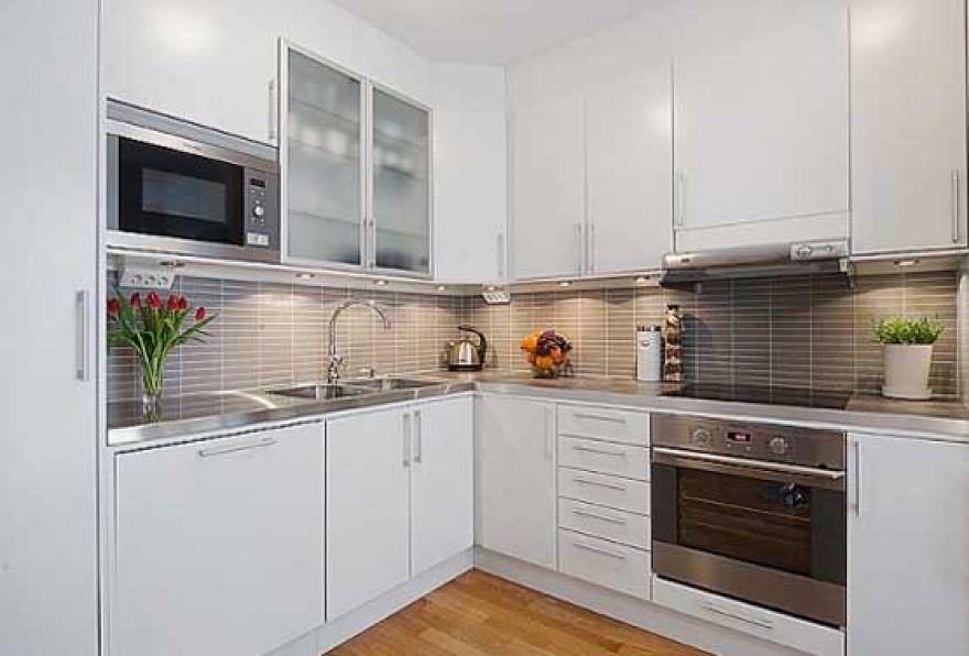 Интерьер белые кухни фото