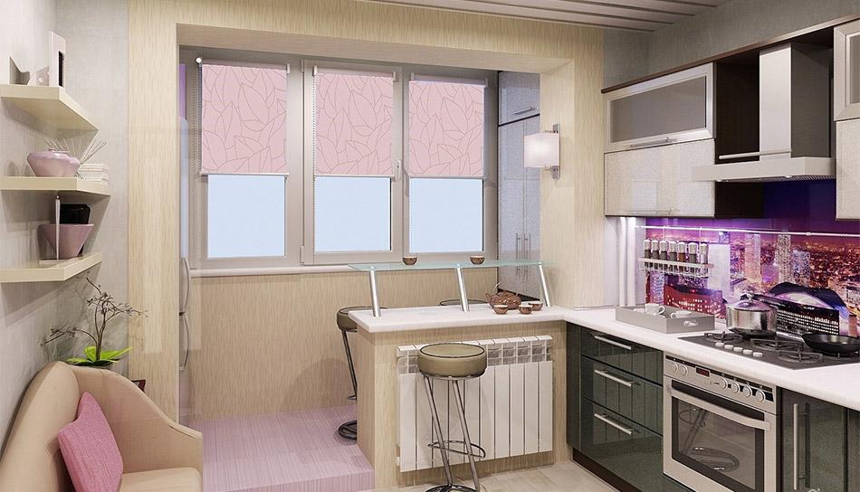 Кухня с балконом : свежие идеи для неповторимого дизайна 82