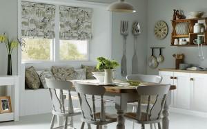 Выбор штор для кухонного окна