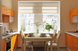 Оформление окна на кухне в современном стиле с фото-примерами