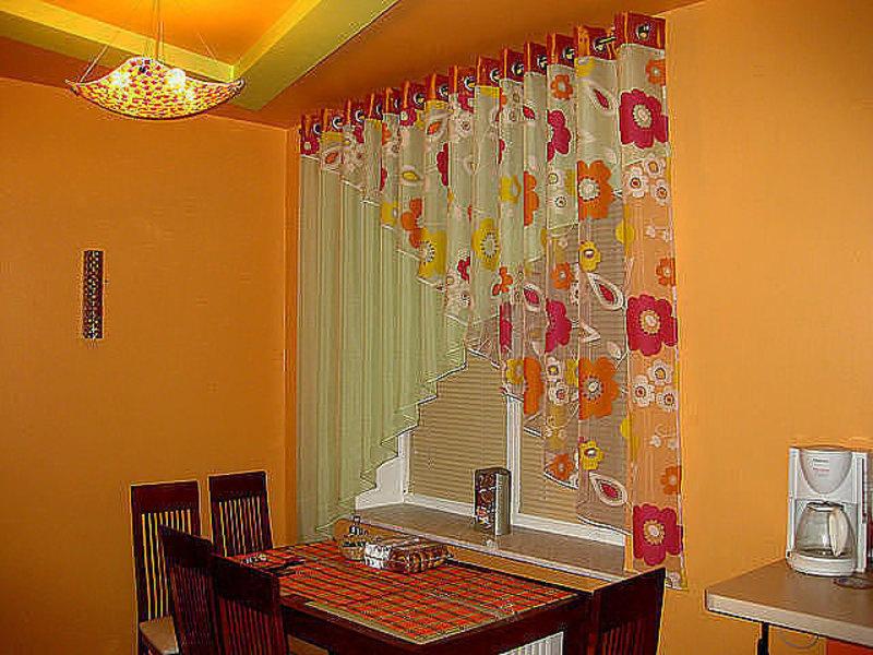 Фото штор на кухню своими руками