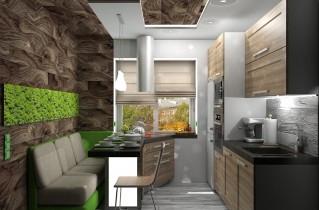 Маленькие кухни в 7 кв. м с вариациями дизайна по фото