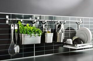Рейлинги на кухню: установка